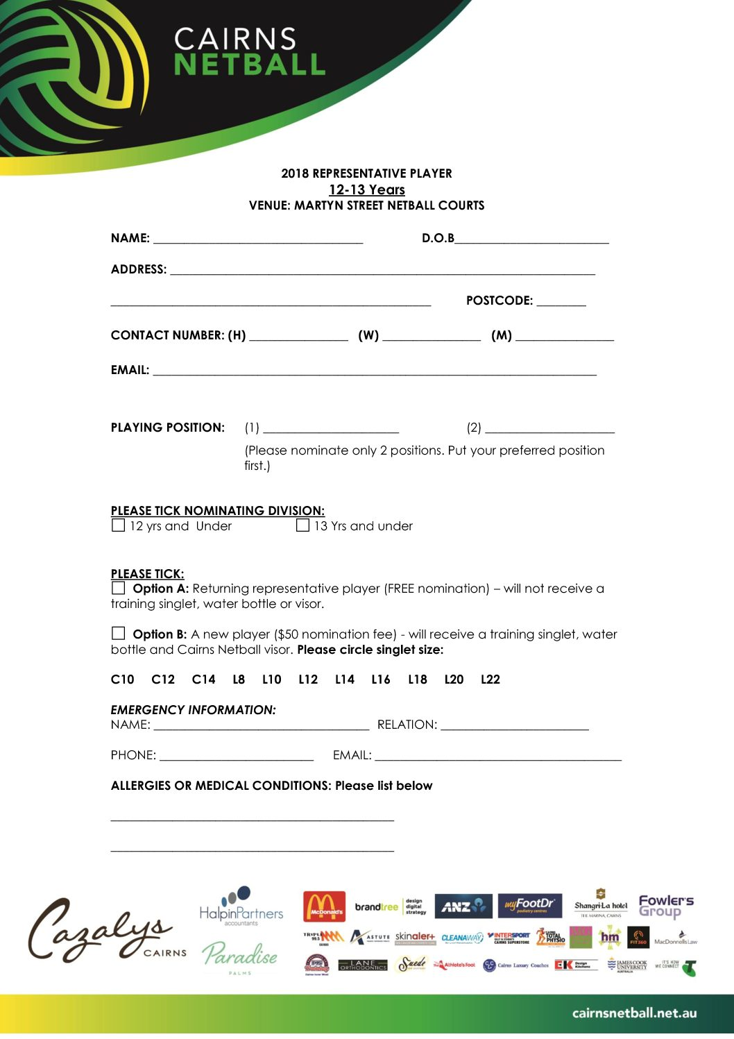 12-13 REP FORMS
