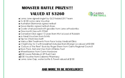 MONSTER RAFFLE PRIZES