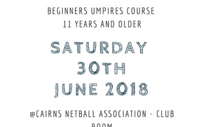 Beginners Umpires Course – 30th June
