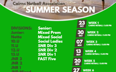 2018 Summer Season Draw – Week 1