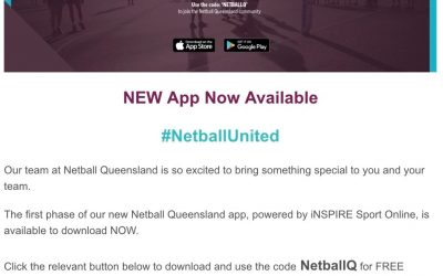 Netball QLD app available now!